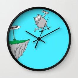 Internet literally (cat edition) Wall Clock