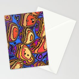 Colored Eggs Stationery Cards