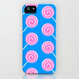 Sweet Pink Candy Lollipops iPhone Case