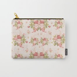 Romantic Vintage Roses and Hearts with Roses Carry-All Pouch
