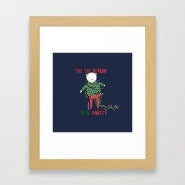 'Tis the season to be knotty Framed Art Print