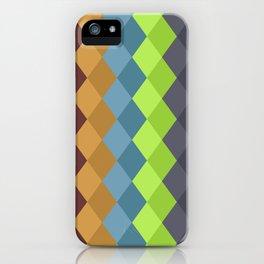Retro rhombs iPhone Case
