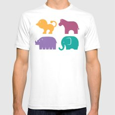 Fun at the Zoo: Pattern Mens Fitted Tee White SMALL