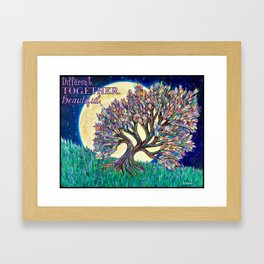 Different. Together. Beautiful. Framed Art Print