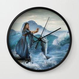 Fish Dance Fantasy Water Abstraction Wall Clock