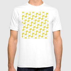 Yellow Hexagon pattern #1 Mens Fitted Tee SMALL White