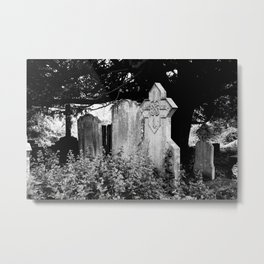 Graves in black and white Metal Print
