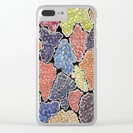 Grapes for wine lovers, gastronomy and restaurants Clear iPhone Case