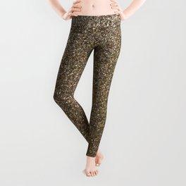 gold glitter photo Leggings