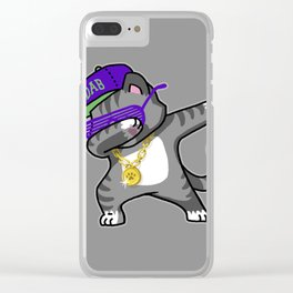 Dabbing Cat Clear iPhone Case