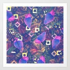 Fluorescent Vibe Art Print
