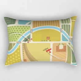 from above in the skies of Picardy Rectangular Pillow