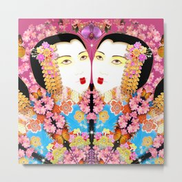 Geisha-A-Go-Go Metal Print