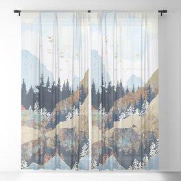 Spring Flight Sheer Curtain