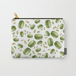 watercolor green macarons and pistachios Carry-All Pouch