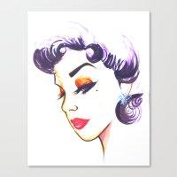 liz climo Canvas Prints featuring Liz by ArtRhapsody