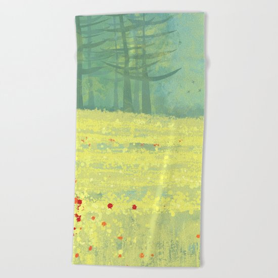 Meadow near Périgueux Beach Towel