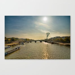 Seine on a Sunday Morning Canvas Print