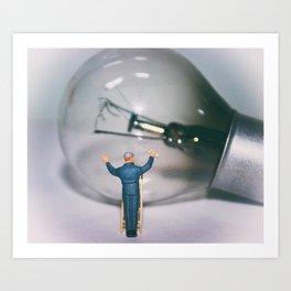 Bulb Cleaner Art Print