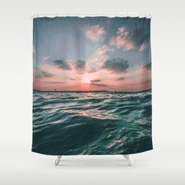 Deep Green Float Shower Curtain