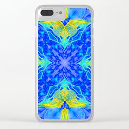 Portal of Thoughts - Spirit of the Northern Wolf - Blue Clear iPhone Case