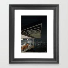 LA by night Framed Art Print
