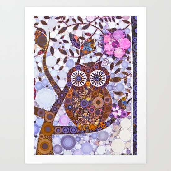 If Klimt Painted An Owl :) Owls are darling birds! Art Print