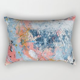 The Alchemist: A bright, colorful abstract painting in pink and blue by Alyssa Hamilton Art Rectangular Pillow