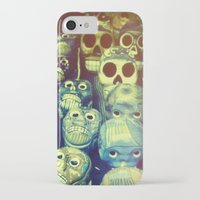 skulls iPhone & iPod Cases featuring skulls by Bunny Noir