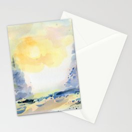 Winter in blue Stationery Cards