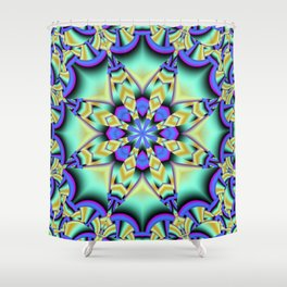 A touch of Spring, fantasy flower pattern design Shower Curtain