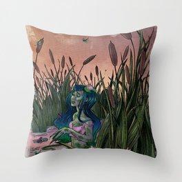 Pond Scum Throw Pillow