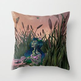 Pond Scum Throw Pillow