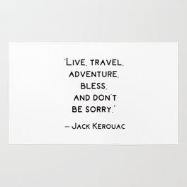 Jack Kerouac Travel Quote Rug