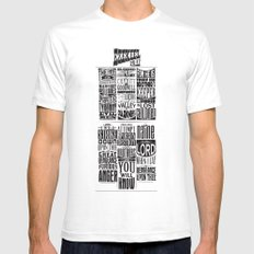 Ezekiel 25:17 SMALL White Mens Fitted Tee
