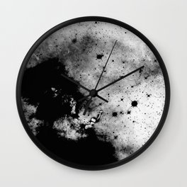 War - Abstract Black And White Wall Clock