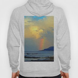 Rainbow on the Coastal Town Hoody