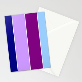Just four colors 1 Blue and purple Stationery Cards