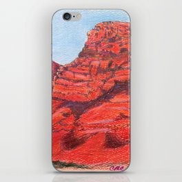Red Clay Mountain By Catherine Coyle iPhone Skin
