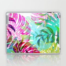 monstera leaves fesh spring colors Laptop & iPad Skin