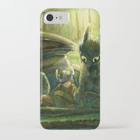 hiccup iPhone & iPod Cases featuring Hiccup and Toothless by PuppyChowArts