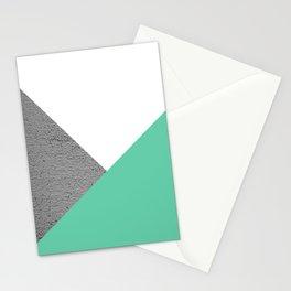 Concrete vs Aquamarine Geometry Stationery Cards