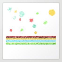 Pastel Bubbles Art Print