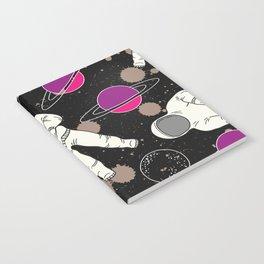 Cosmic Hipster Astronaut Notebook