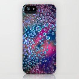 Magic iridescent colorful dew drops iPhone Case