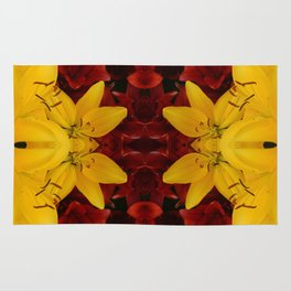 """""""A Gathering of Lilies"""" Remix - 2 (1-1) [D4466~24] Rug"""