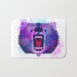 Lilac Geometric Bear Bath Mat