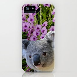 Koala and Orchids iPhone Case