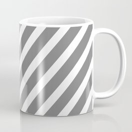 Grey Diagonal Stripes Coffee Mug