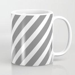 Grey Diagonal Stripes Coffee Mug